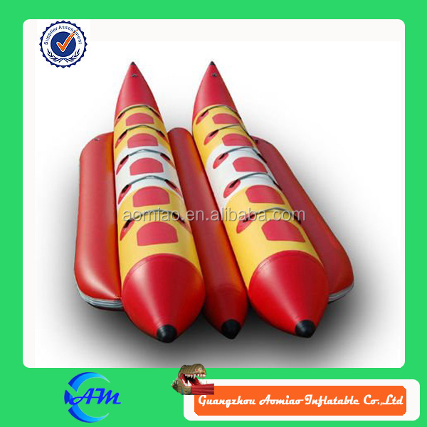 Water toy products double tube inflatable banana boat for sale