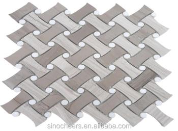 nice pattern design basketweave tile diagonal backsplash tile
