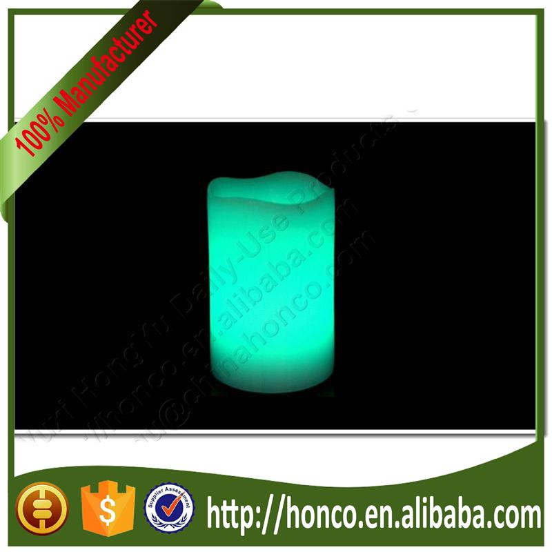 Newest Wax Round pillar Melted Edeg Led Flamelesss Candle with various sizes