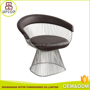 2017 Trend Replica Knoll Platner Metal Wire Stool,Platner Lounge Wire  Armchair With Molded Latex