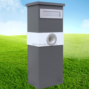 pillar mailbox garden/outdoor parcel drop box/free standing newspaper letterbox