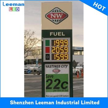 Gas Station For Led Fuel Price Signs Leeman Rgb Table Lcd Clock - Buy  Custom 7 Segment Led Display,Large Led Display 12 Inch 7 Segment  Led,Competitive
