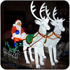 Manufacturer commodity santa sleigh christmas decoration led lights