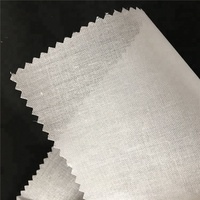 Shirt collar fusing lining 100% Polyester Material shirt cuff fusible woven interlining fabric