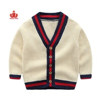 Custom designs clothing100 hand wool cardigan pullovers cotton kids baby 1 year little warm knit boys sweater