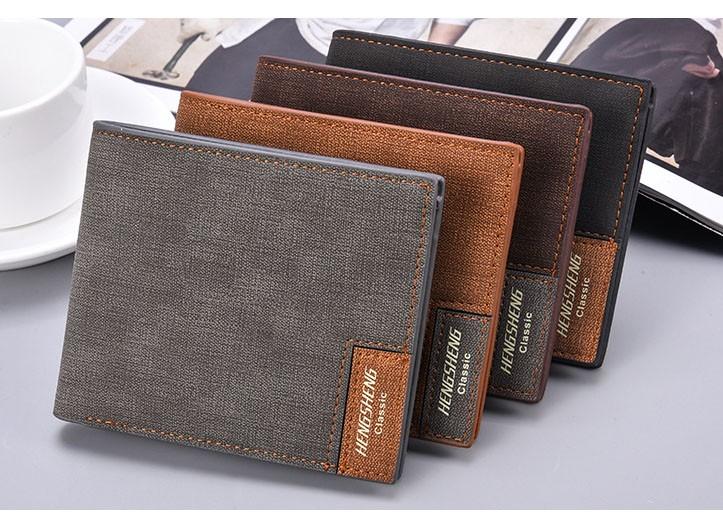 e01b4ac40c Sottile Ragazzi Portafoglio Titolare della Carta Breve Borsa Studenti di  Alta Qualità della tela di canapa
