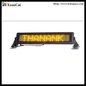 Hot Sell Programmable Led Car Display Screen Moving Messages Led Sign for car bus truck back window display