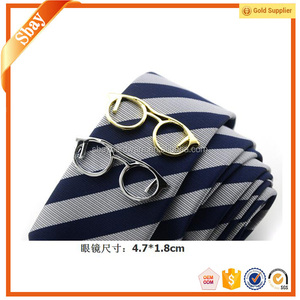 Fancy cheap sports nautical glasses shaped tie clip