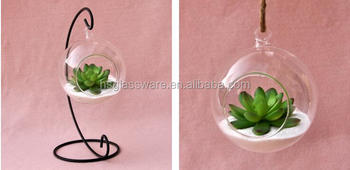 High Quality And Beautiful Design Hanging Glass Vase Glass Terrarium