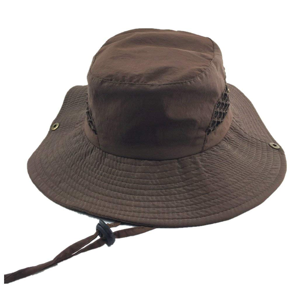 f5220eb1 Get Quotations · ZIMCA Unisex Foldable Fisherman Hat Nylon Quick Drying  Waterproof Sun Protection Cap, UV Protection Wide