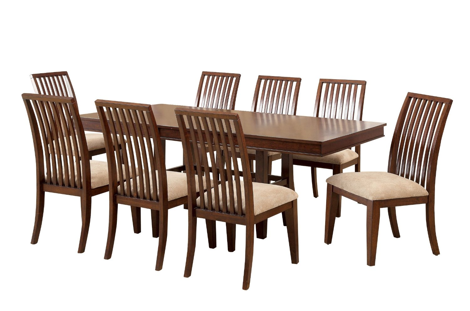 Furniture of America Chester 7-Piece Dining Set with Extending Table, Brown Cherry