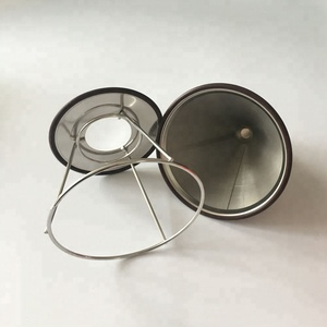 Stainless Steel Custom 4 Cup Reusable Coffee Filter Pour Over
