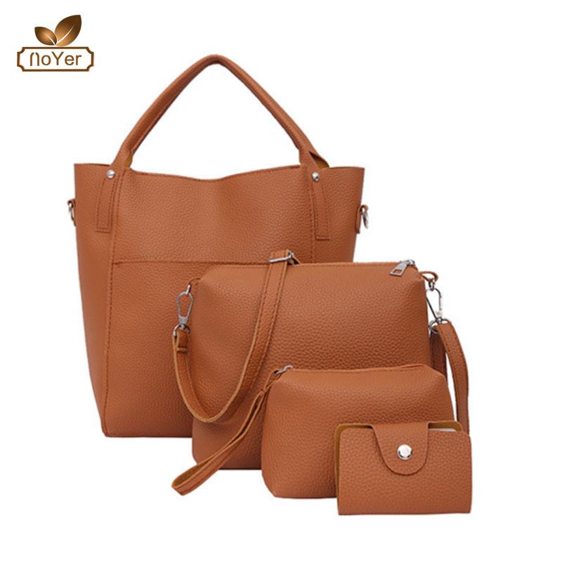 8eea4b266891 Wholesale women leather handbag set manufacturers fashion 4 pcs ladies bags  handbag sets
