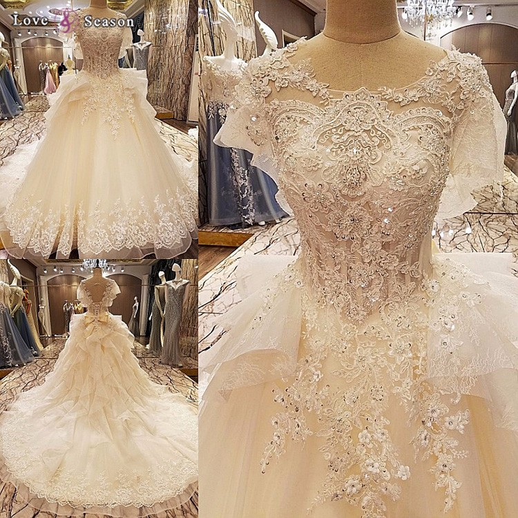 LS79643 Pictures Of Latest Gowns Designs New Bride Alibaba Wedding Dresses 2017 Luxury Model Picture