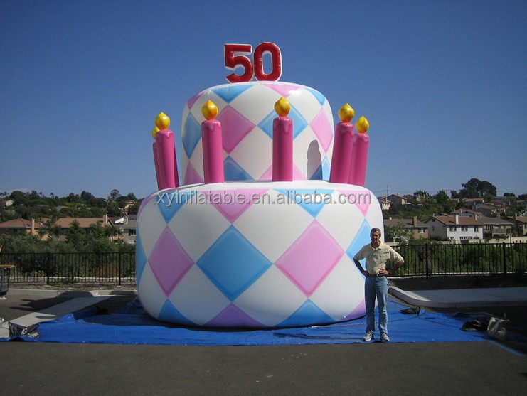 2017 Giant inflatable birthday cake model in hot sale,advertising inflatable