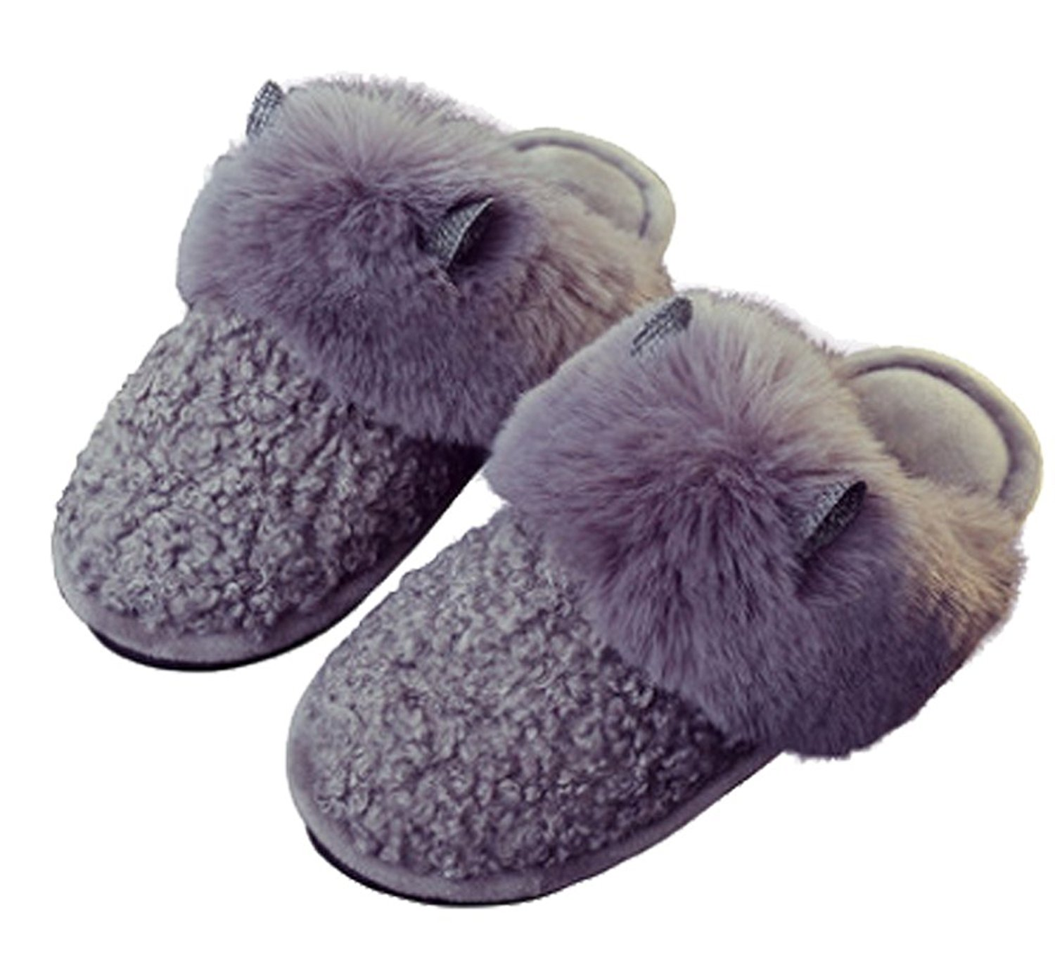 Cattior Womens Fleece Warm Cute Slippers House Indoor Slippers