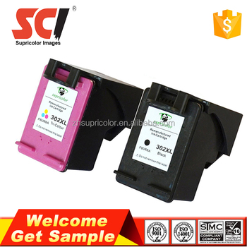 Supricolor Compatible 302 ink cartridge replacement for HP 2132 chip reset to full level