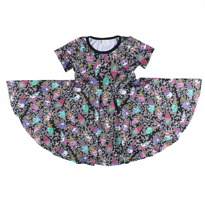 2019 custom cheap boutique baby dress,wholesale fashion colorful flower girl party dress, high quality wedding kids girls dress