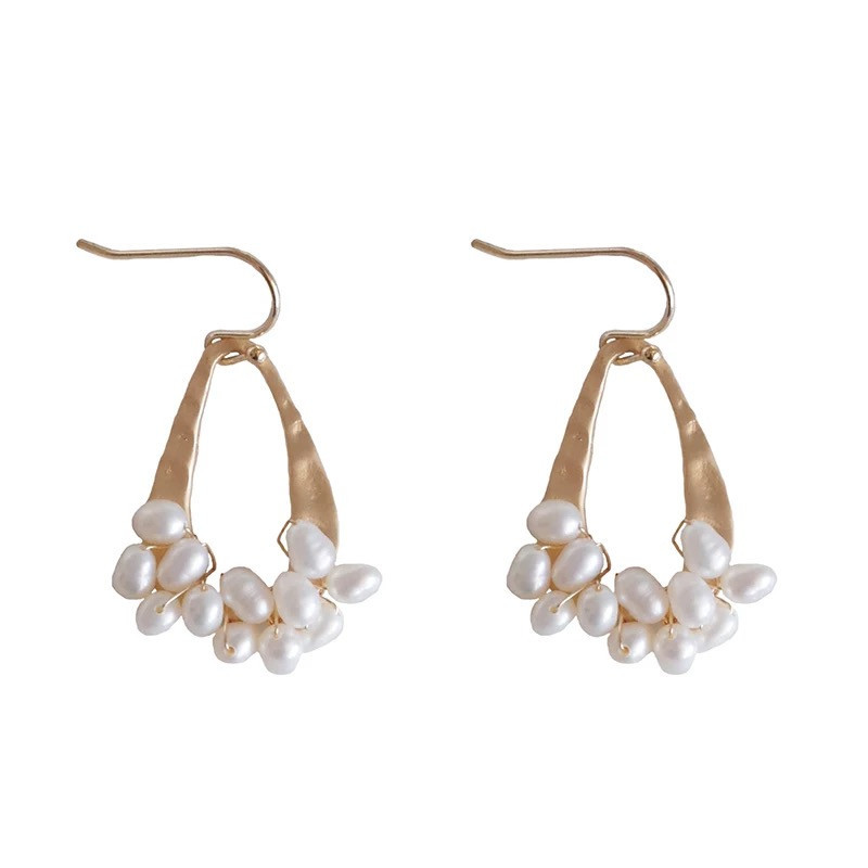 Korean <strong>earrings</strong> jewelry fashion natural pearl dangle <strong>earrings</strong> <strong>gold</strong> jewelry <strong>earring</strong> <strong>hook</strong>