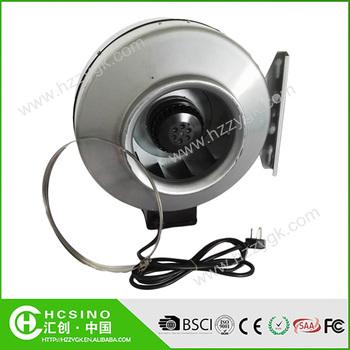 Metal Casing Reversible Ac Inline Duct Fan Greenhouse