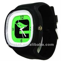 Top quality Japan movement 3ATM waterproof ss.com silicone watch 30 colors in stock
