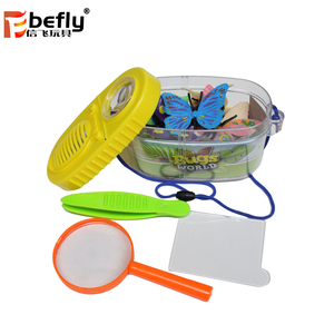 2019 kids outdoor exploration kit jungle adventure toys with plastic butterfly