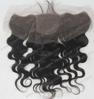 "14"" natural color,body wave,4""*4""silk top lace frontal"