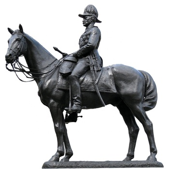 popular roman style large bronze soldier and horse statues