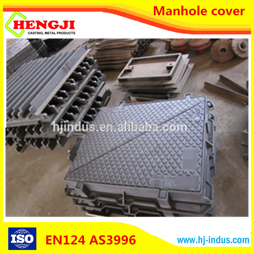 EN124 ISO9001 professional desigh of Ductile Iron Round and square OEM gas station manhole cover