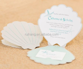 Lovely Unique Beach Themed Shell Shaped Laser Cut Wedding