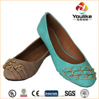 YL6679 sale metal fashion women flat shoes