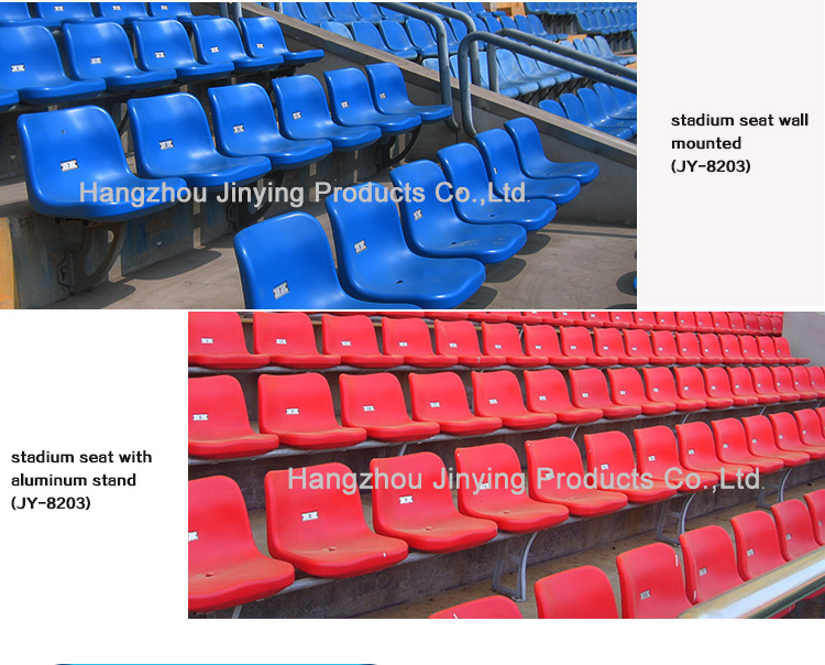 Stadium Seats Product : Strong and stable aluminum alloy cmodern plastic seats for