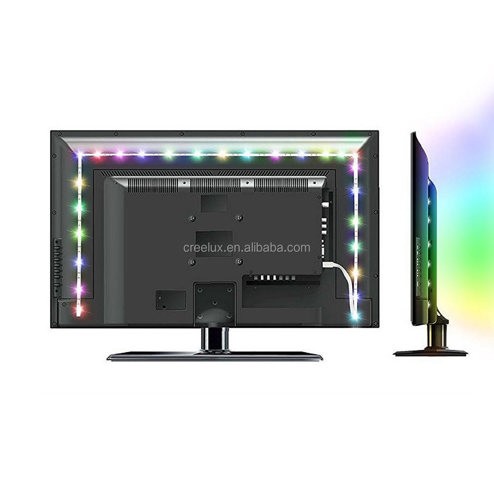 Led Tv Backlight Strip Light Kit Rgb 5v Usb For Computer Laptop Desktop Pc Buy 8mmled Lights