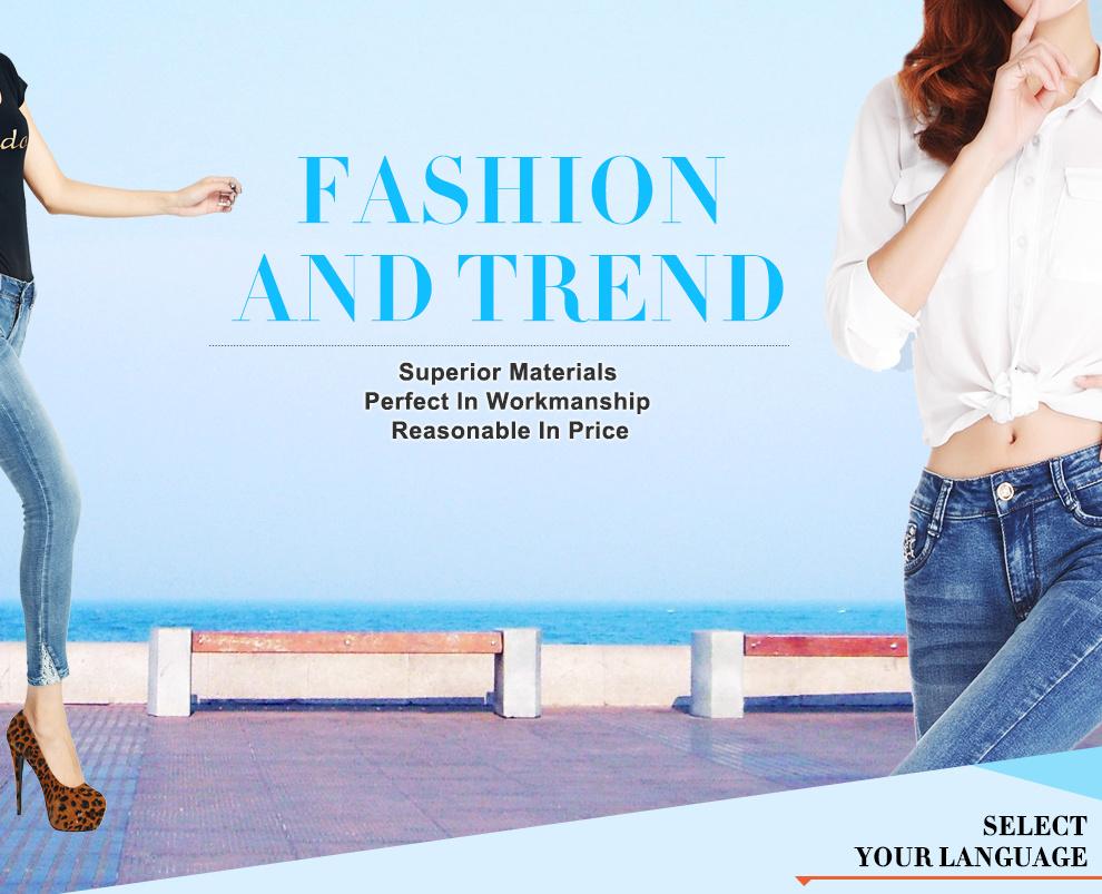 Guangzhou Dunhao Trading Co Ltd Jeansshorts Lea Orange Label Slim Fit Jeans Pants Hitam