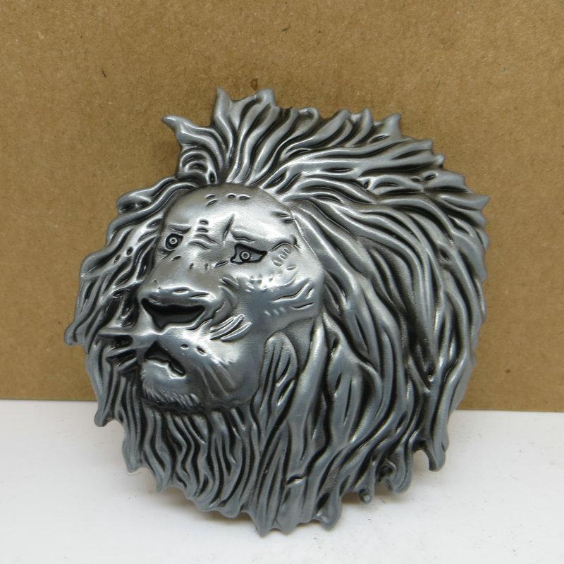 Roaring Lion Head Metal Belt Buckle