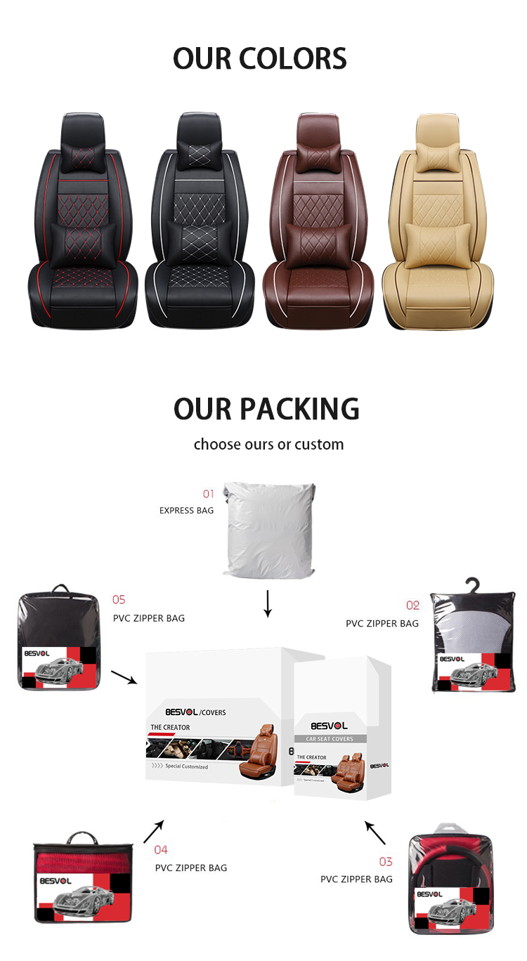ZT-P-122 luxury universal and custom leather car seat covers