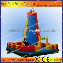 Durable climbing,inflatable wall, inflatable rocking climbing with safety belt