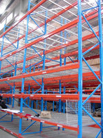 Logistic wire mesh decking panel racking