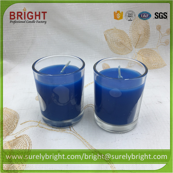 Ocean Aroma Blue Colored Glass Jar Candles Wholesale