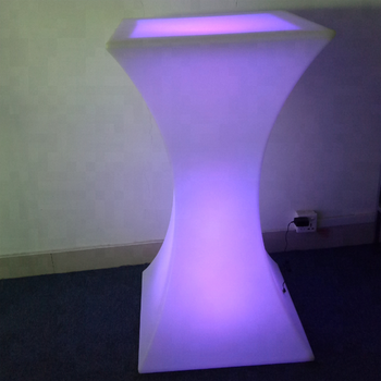 LED Rechargeable Light Up Table Furniture - Indoor Outdoor Use - Waterproof with Remote