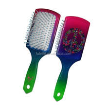 paddle brush, factory directly sale 18cm detangler untangle square magic silicon paddle hair brush
