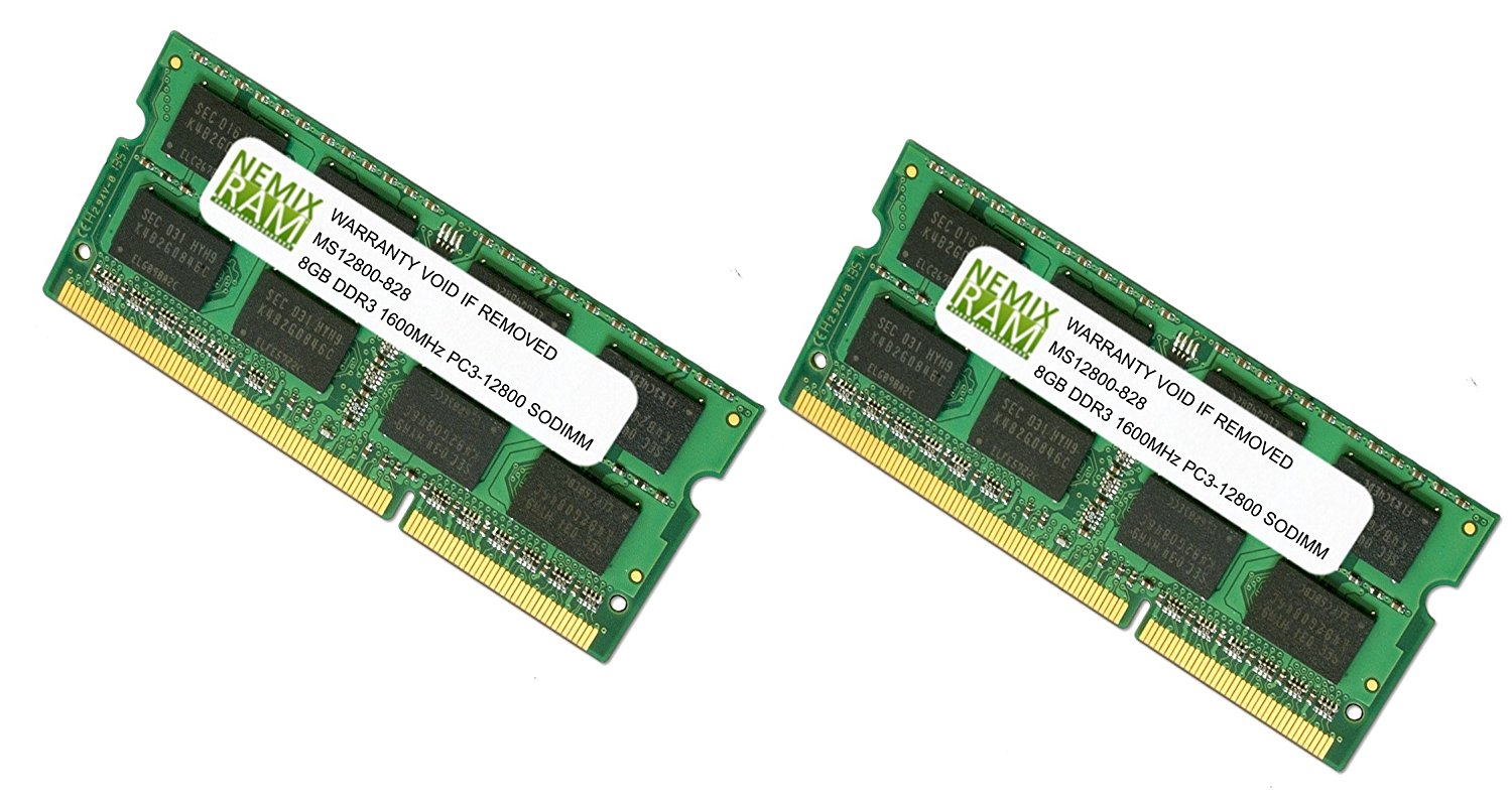 Cheap 8gb Ram Macbook Pro Find Deals On Line At Sodimm Ddr 3 1gb Pc 12800 Get Quotations 16gb 2 X Ddr3 Pc3 Memory For Apple