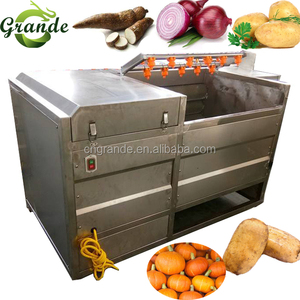 2018 Stainless Steel Automatic Peach Washing and Peeling Machine for Sale