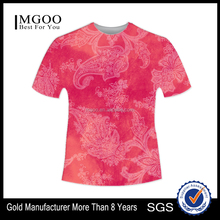Custom Design Dye Sublimation Imported T-Shirt Digital Printed Polyester Tee Shirt