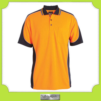 Custom slim fit vertical striped dry fit srange polo for Custom dry fit polo shirts