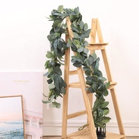 Artificial Leaves Wreath Eucalyptus Greenery Garlands for Wedding Decor