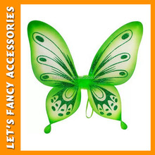 PGAC1584 wholesale green butterfly wings nylon butterfly fairy wing