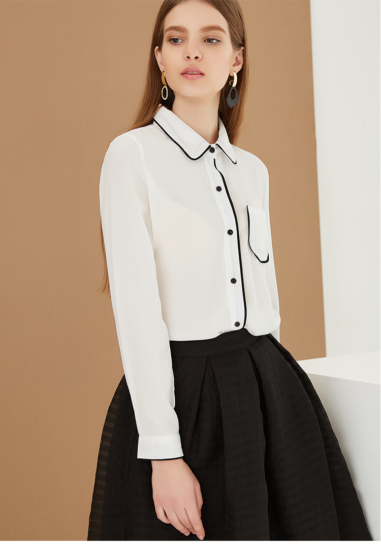 4c541846d752ae OEM clothing manufacture office women wear elegant formal blouse ladies  shirt