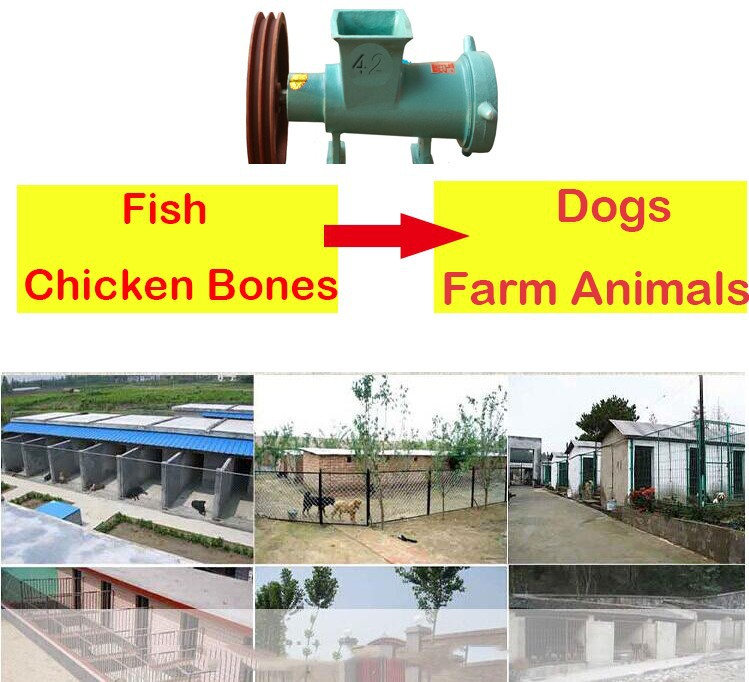 #62 Electric Meat Bone & Shell Mill Grinder Commercial Meat Grinder, Chicken Skelton/ Bone Crusher Fish Bone Crusher