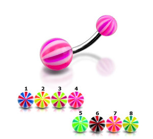Wholesale Body Piercing Jewelry UV Acrylic Navel Rings